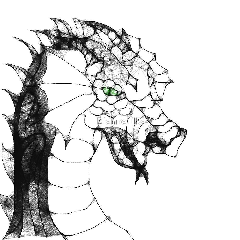 Scribbler Dragon by Dianne  Ilka