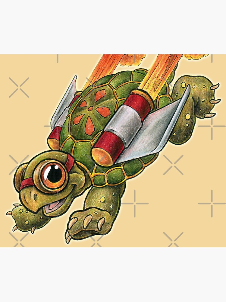 Rocket Tortoise! by SharpTattoos