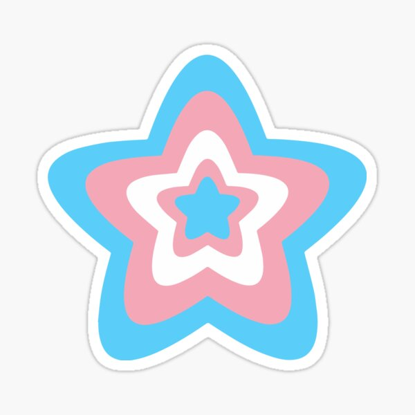 Trans Pride Star Sticker