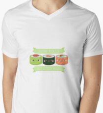Sushi Rollen nicht Gender Rollen T-Shirt mit V-Ausschnitt für Männer