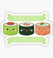Sushi Rollen nicht Gender Rollen Sticker