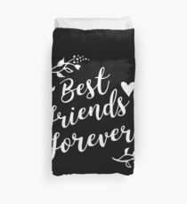 Best Friends Forever BFF Goals Besties Gift Idea Bettbezug