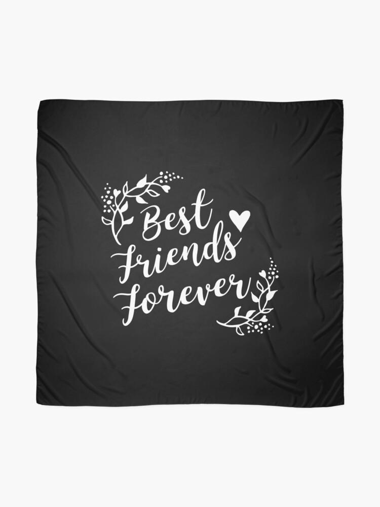 Alternative Ansicht von Best Friends Forever BFF Goals Besties Gift Idea Tuch