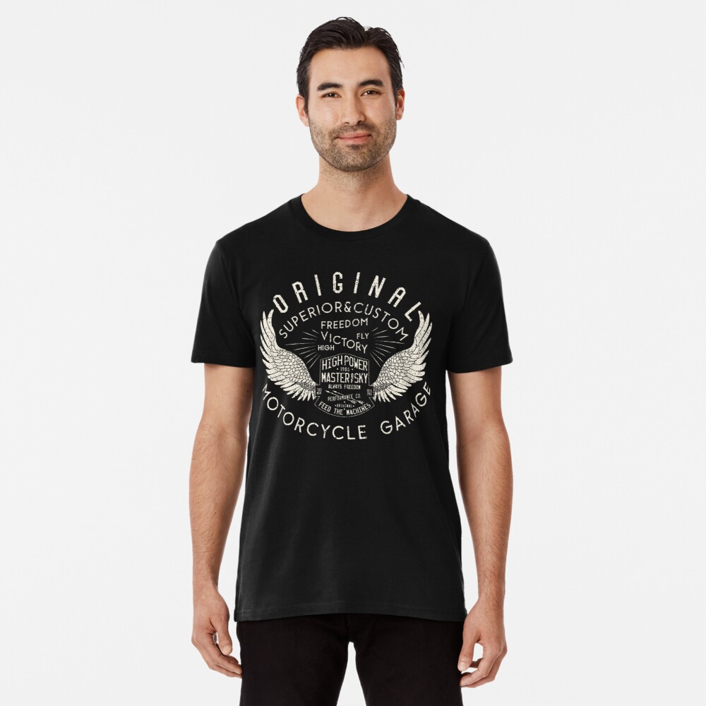 High Power Motorcycle Garage Vintage Premium T-Shirt