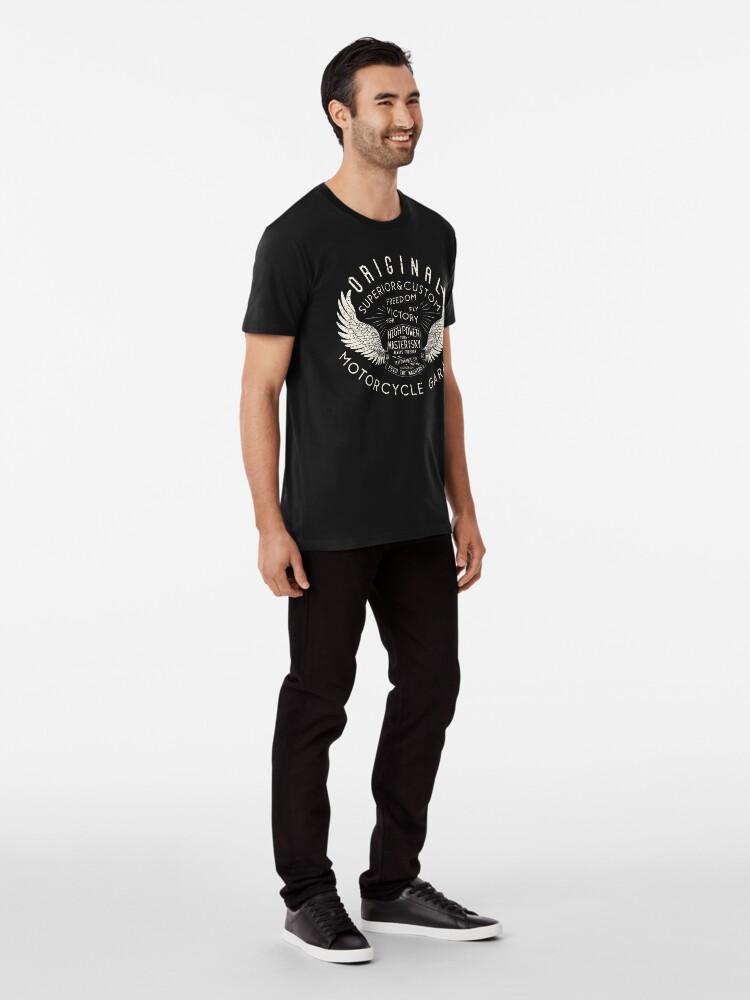 Alternate view of High Power Motorcycle Garage Vintage Premium T-Shirt