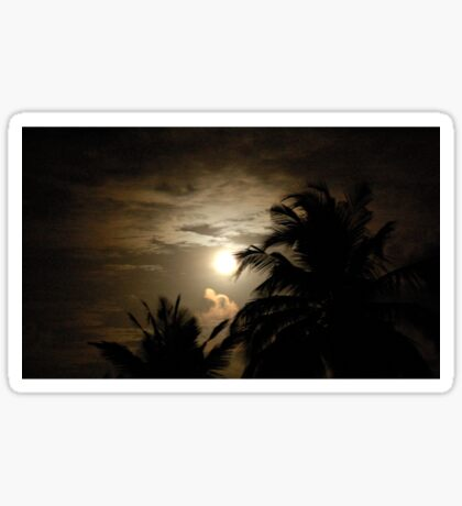 PALM SILHOUETTES IN THE MOONLIGHT Sticker