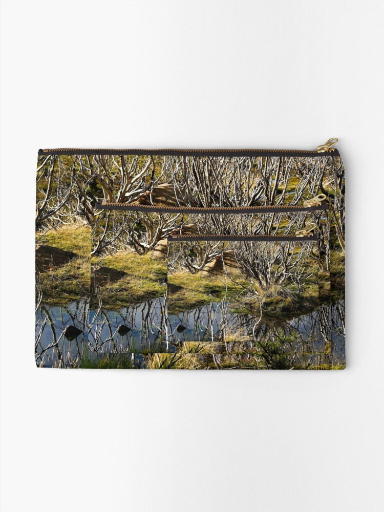 Alternate view of Devil's gullet wetlands Zipper Pouch