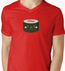 Happy Sushi - Tuna Roll Men's V-Neck T-Shirt