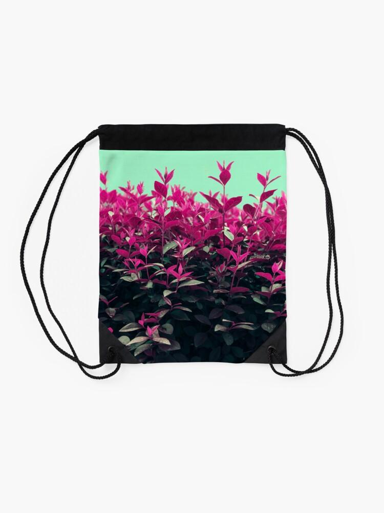 Alternate view of Pink Spring Drawstring Bag