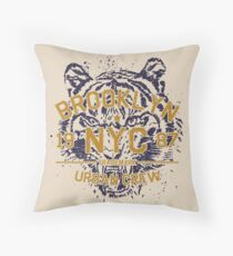 NYC Brooklyn Vintage Tiger Floor Pillow