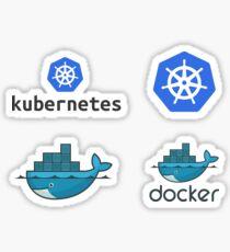 docker & kubernetes set Sticker
