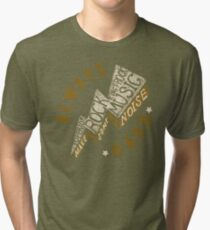 Hard Rock Thunder Hand Lettering Tri-blend T-Shirt