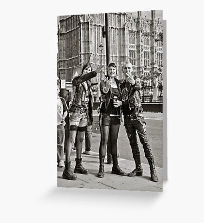 Punk Rockers in London, UK. Greeting Card