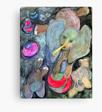 Dumb Elephant Tricks Canvas Print