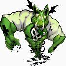 DemonDawg GREEN by hawtcherry