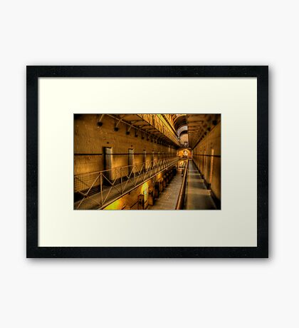 The Hard Yard - Old Melbourne Gaol, Melbourne - The HDR Experence Framed Print