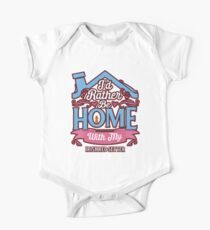 I'd Rather Be Home With My Irish Red Setter - Irish Red Setter Baby Body Kurzarm