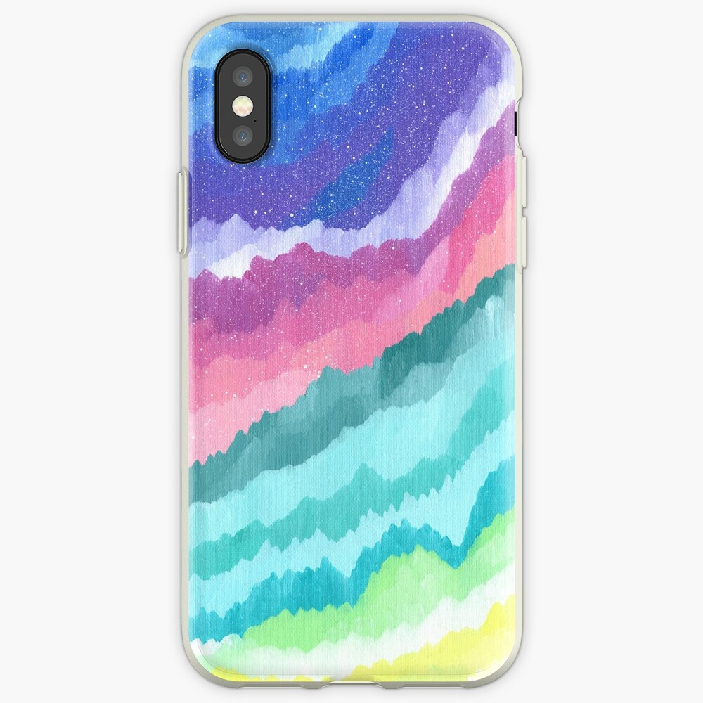 Acrylic Mountains #1 iPhone Cases & Covers