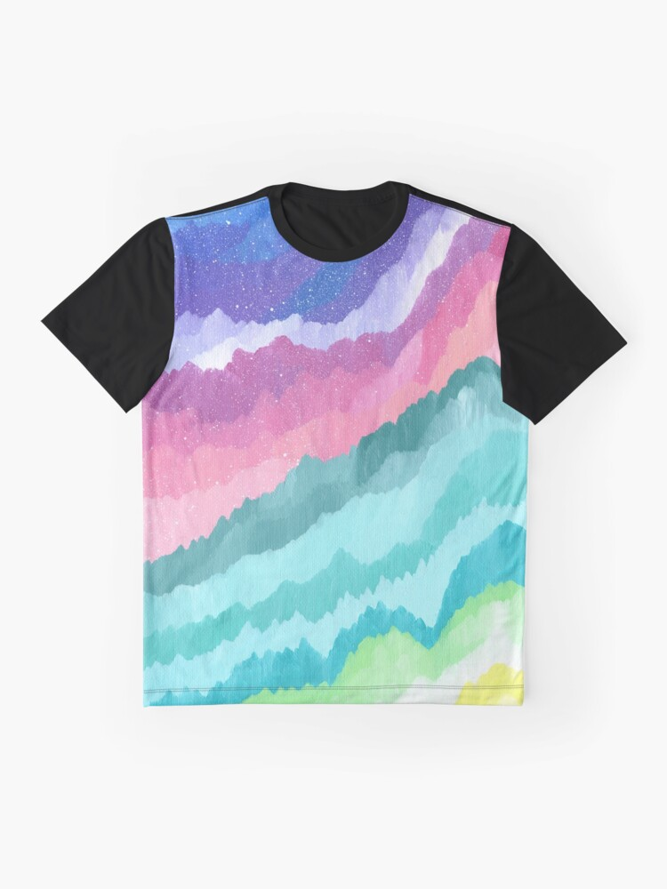 Alternate view of Acrylic Mountains #1 Graphic T-Shirt