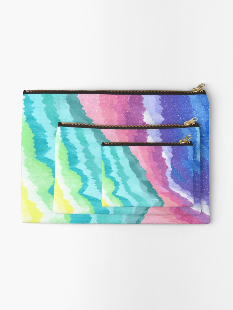 Alternate view of Acrylic Mountains #1 Zipper Pouch