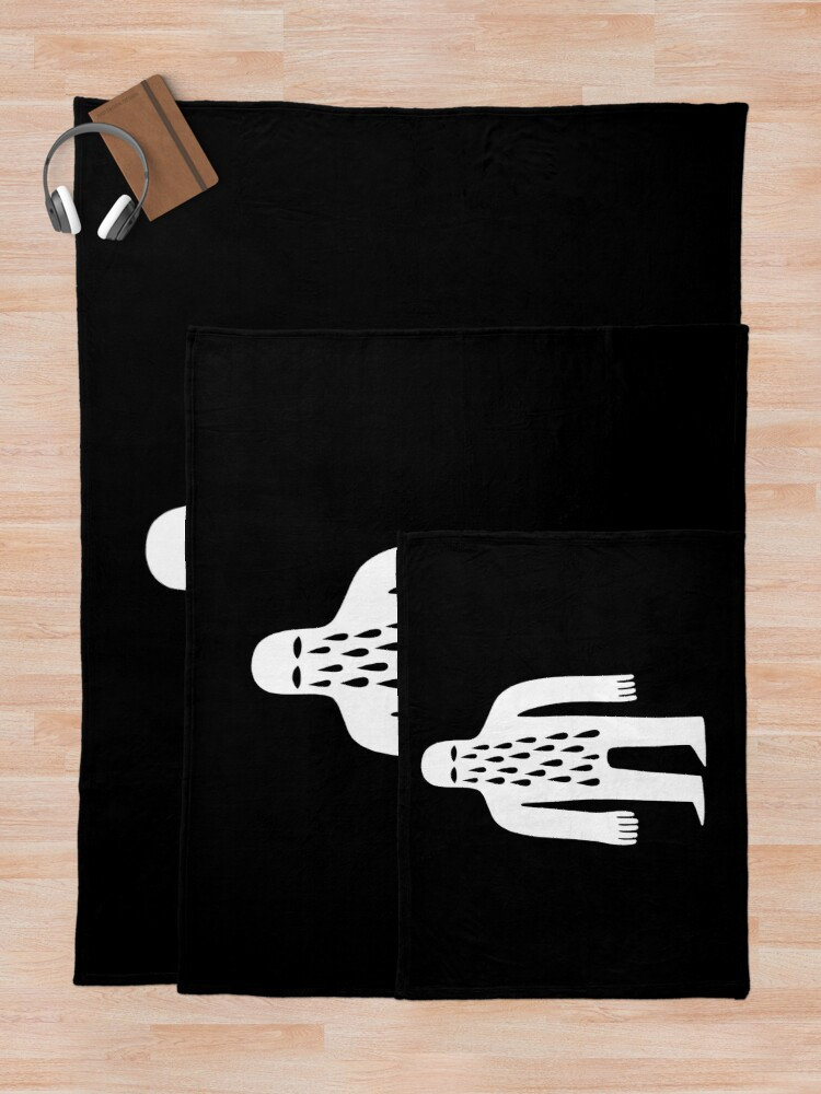 Alternate view of Crying Man Throw Blanket