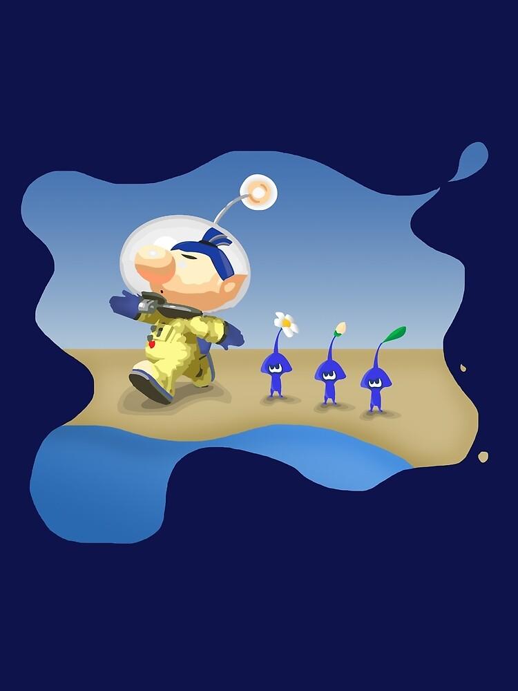 Splatoon - Pikmin Crossover Beach Splash by TokenOfHoN