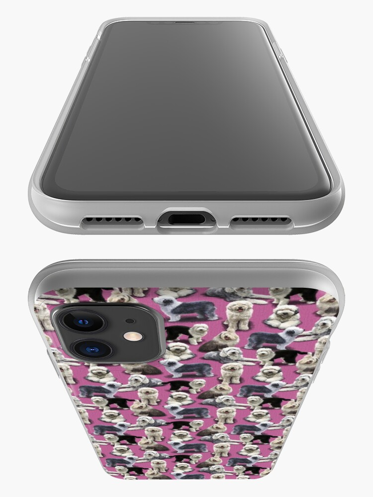 Alternate view of Old English Sheepdog Pink iPhone Case & Cover