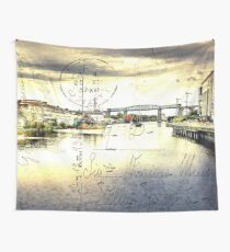 Vintage Style Postcard Of Drogheda, Ireland.  Wall Tapestry