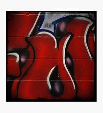 Red Graffiti Detail Photographic Print