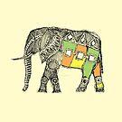 Afrikanischer Elefant Sketch von Hinterlund