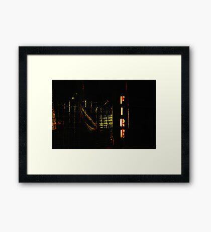 FIRE! Framed Print