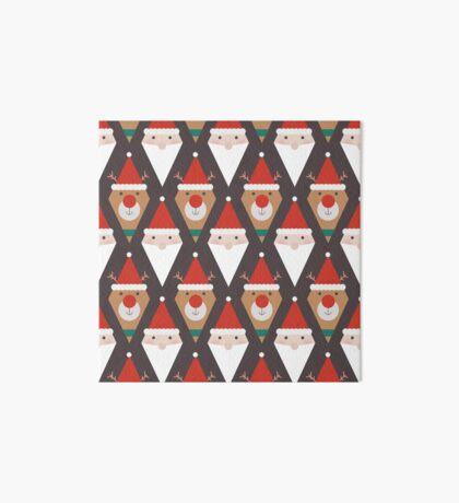Santa and Rudolph II (Patterns Please) Art Board Print