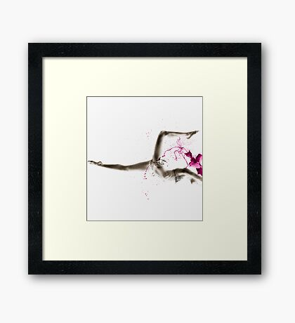 Under Tow Framed Print