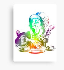 Psychedelic Mad Hatter Trippy Alice Canvas Print