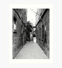 Quiet Alley Art Print