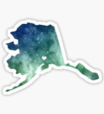 Alaska Love Sticker