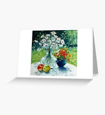 Still life with Daisies Greeting Card