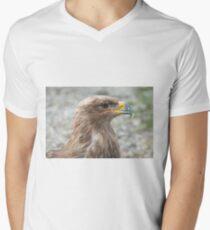 Steppe Eagle T-Shirt mit V-Ausschnitt für Männer