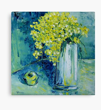 Still life with green Apple Canvas Print