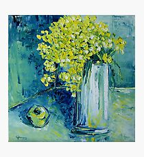Still life with green Apple Photographic Print
