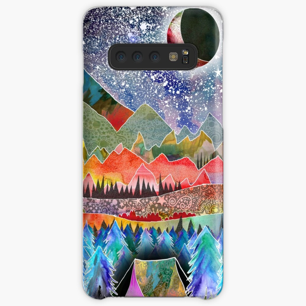 Camping under the moon Case & Skin for Samsung Galaxy