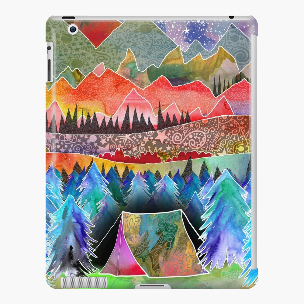 Camping under the moon iPad Case & Skin
