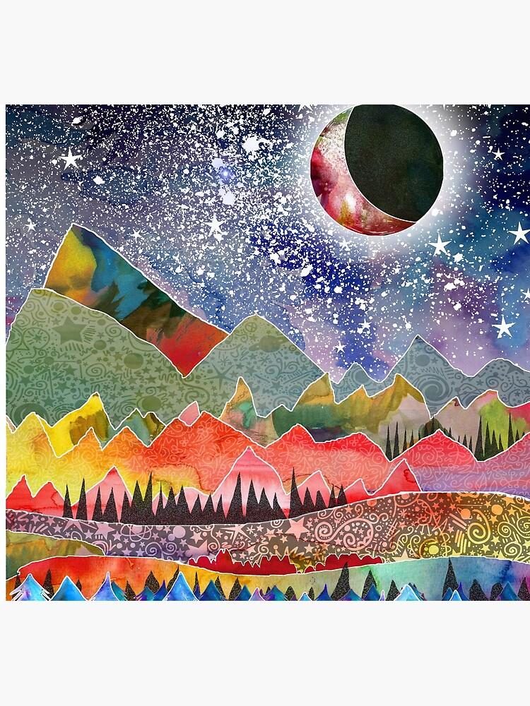 Camping under the moon by emmaallardsmith