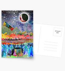 Camping unter dem Mond Postkarten