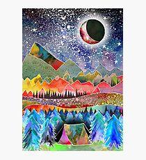Camping unter dem Mond Fotodruck