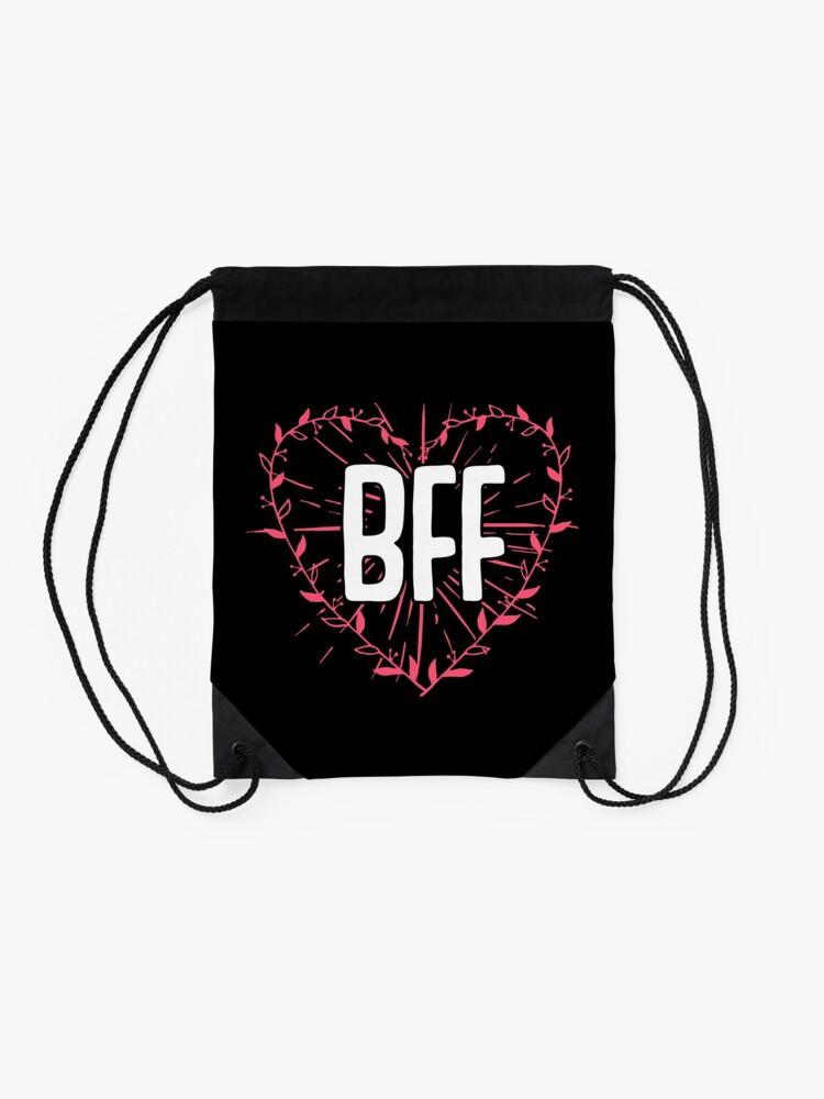 Alternative Ansicht von BFF Best Friends Forever Besties Goals Gift Idea Turnbeutel