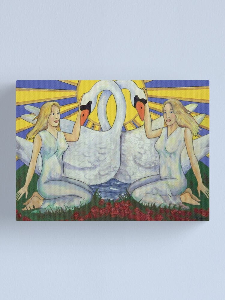 Alternate view of Leda and the Swan detail Canvas Print