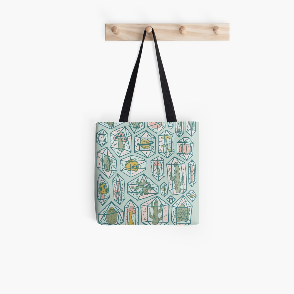 Crystals and Plants Tote Bag