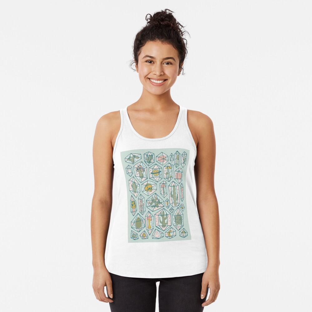 Crystals and Plants Racerback Tank Top