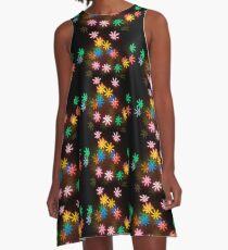 Neon Confetti Party A-Line Dress